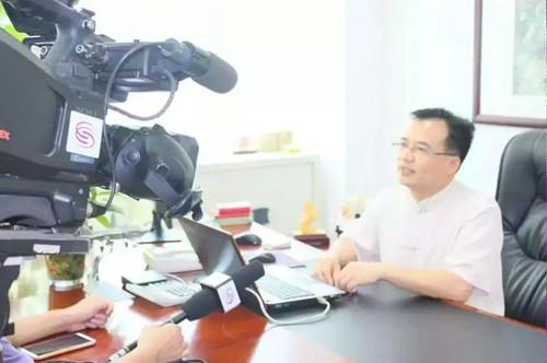 深圳电视台财经频道采访深圳阿达电子和总经理肖兴朝