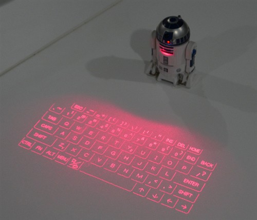 """又让人见识到一种""""高科技概念""""的产品叫投影键盘"""