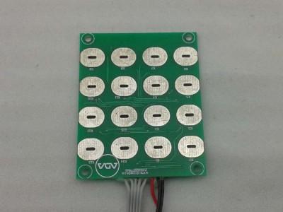 16键触摸带独立LED灯 BCD编码输出控制模组